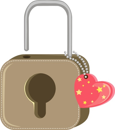 Lock with heart Stock Vector - 12702997