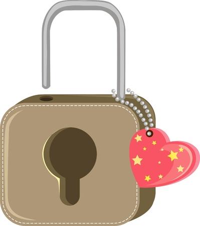 web design bridge: Lock with heart