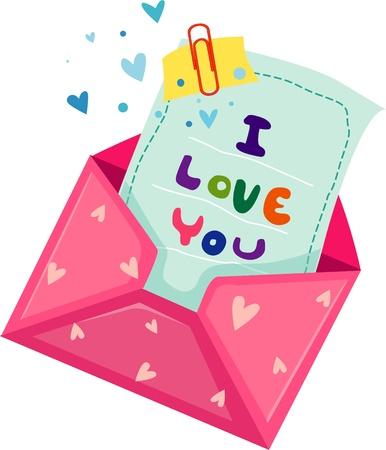 Love letter  Vector