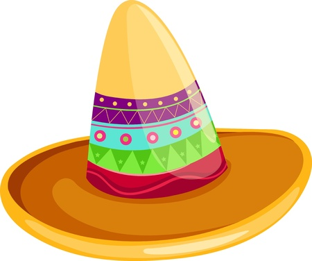 flying hat: Mexican sombrero