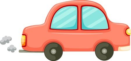 performance art: Orange car and Van  Illustration