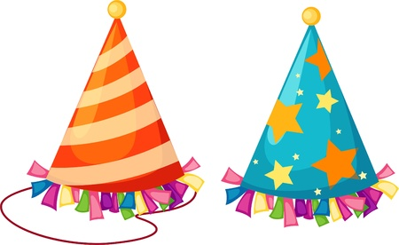 party hats: Party hat isolated vector illustration  Illustration