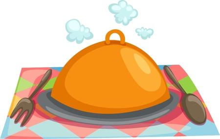 platter: Stock Vector Illustration  Serving tray Illustration
