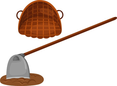 Shovel with bucket  Vector
