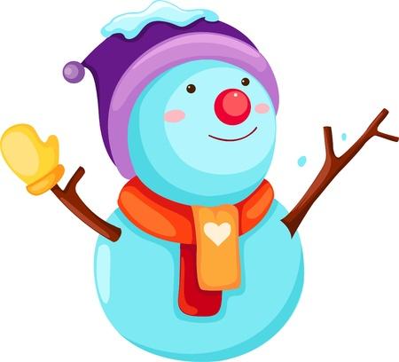 north pole sign: Snowman  Illustration