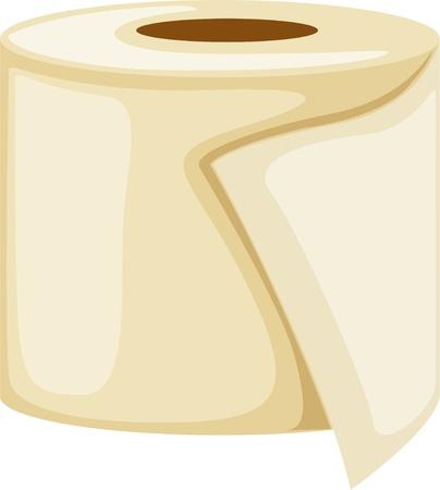 white napkin: Toilet paper roll
