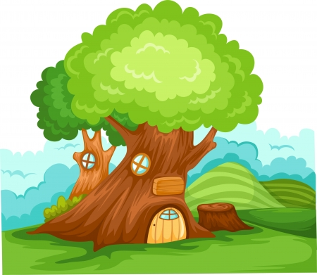vector Tree house Illustration