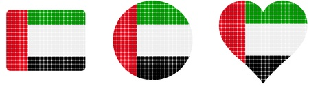 helium balloon: Arabian emirates flag isolated in white background