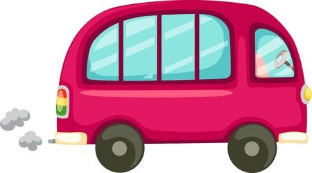 Orange car and Van Stock Vector - 12703059