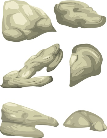 rock formation: illustration of isolated boulders vector file