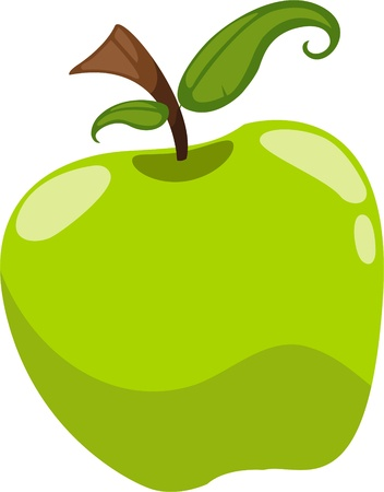 illustration cartoon apple vector file on White background