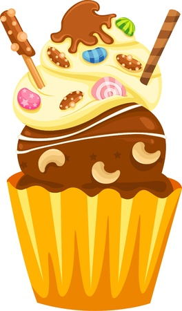 Cupcake vector on White background  Vector