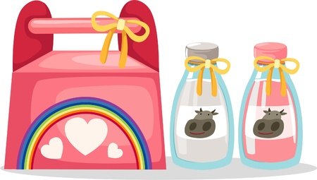illustration gift box vector Vector