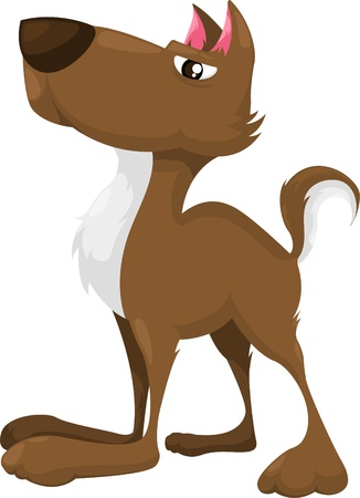 dog cartoon isolated vector illustrator  Vector