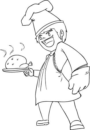 illustration chef vector