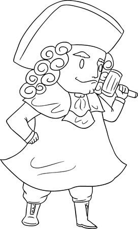 black wigs: judge vector illustration