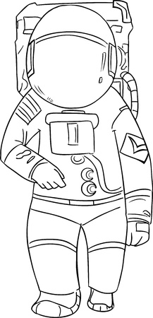 man in suite: vector astronaut  Illustration