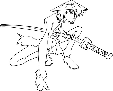 samurai vector illustration Vector