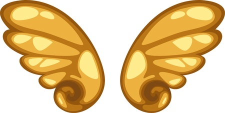 paloma caricatura: alas icono de ilustración vectorial Vectores