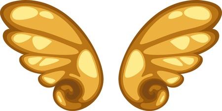 wings icon: ali icona illustrazione vettoriale
