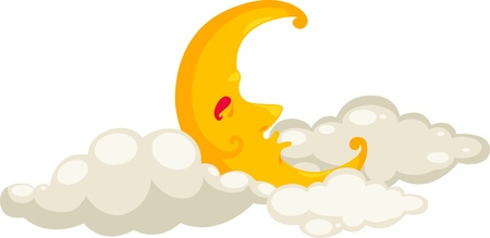 sunny cold days: moon icon vector illustration Illustration