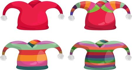giullare: cappello di giullare isolata illustrazione vettoriale
