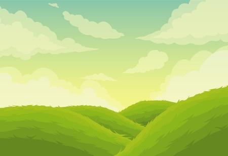 illustration Beautiful Landscape Background Stock Vector - 12703155