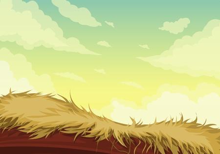painterly: illustration Beautiful Landscape Background Illustration