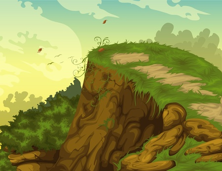 illustration Beautiful Landscape Background Vector