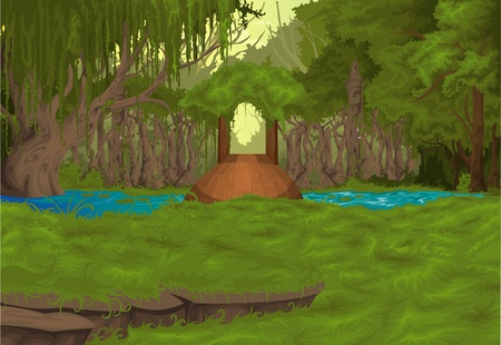 green house effect: illustration Beautiful Landscape Background Illustration