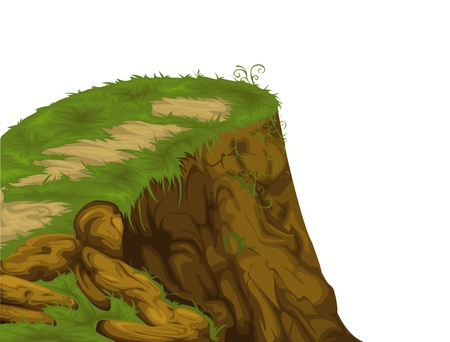 cliff isolated of illustration