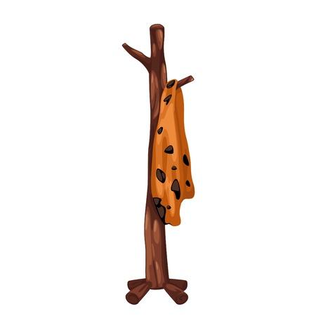 coat rack: Coat rack prehistoric isolated of illustration