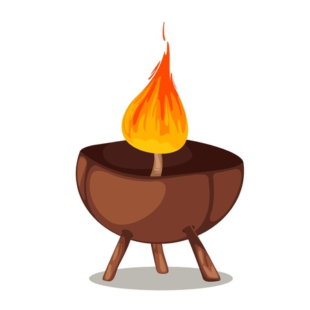 Natural coconut candle isolated of illustration