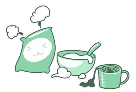 Icônes de cuisson mis illustration de isolé sur fond blanc