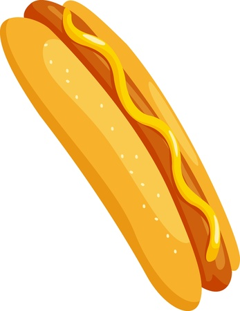 fat dog: hot dog vector illustration Illustration
