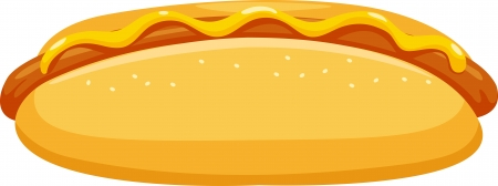 hot dog vector illustration Vector
