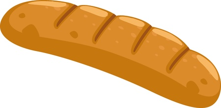 loaf of bread: bread vector illustration Illustration