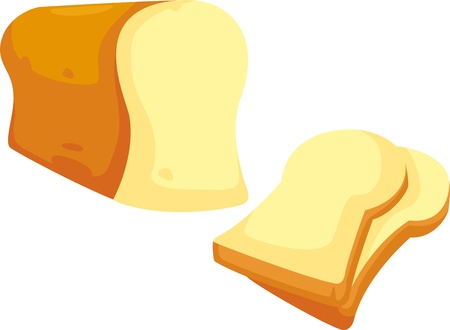 bread and butter: bread vector illustration