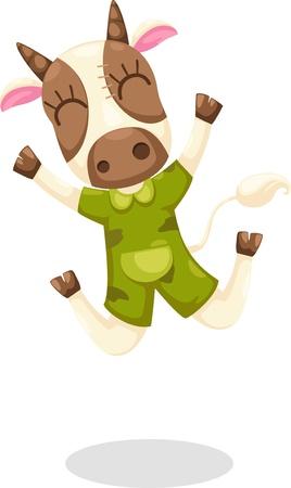 cow teeth: cow vector Illustration