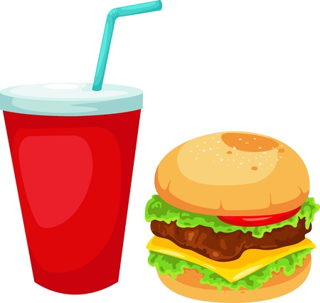 Hamburger set vector illustration  Vector