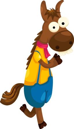 riding boot: horse vector Illustration