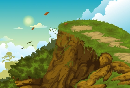 Beautiful mountainous background Vector