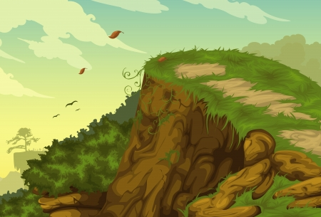 non urban scene: Beautiful mountainous background vector