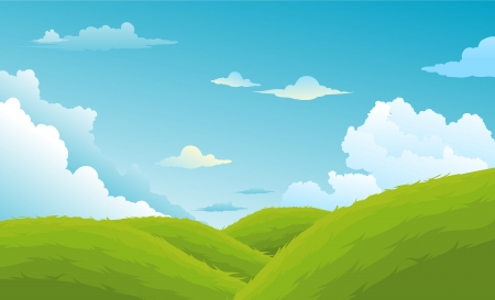 mushroom illustration: Beautiful Landscape Background  Illustration