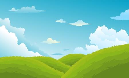 mountainous: Beautiful Landscape Background  Illustration
