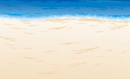 Caribbean sea: Beautiful Sea Landscape Background vector