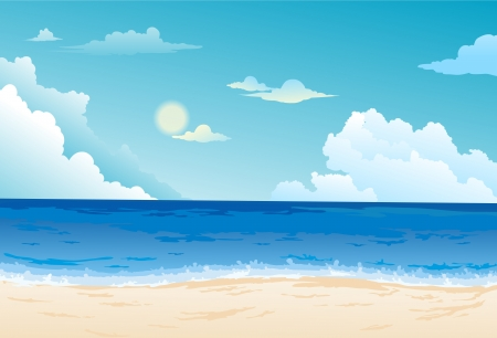 Beautiful Sea Landscape Background vector Vector