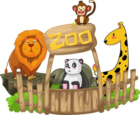 animal, zoo, vector