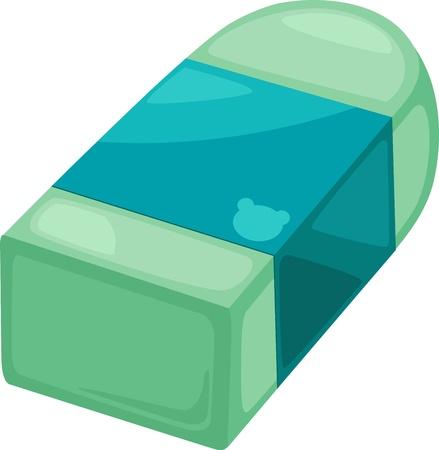 illustratie geïsoleerde alfabet letter E-Eraser vector Vector Illustratie
