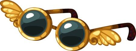 nursery school: illustration isolated ALPHABET LETTER G-Glasses vector